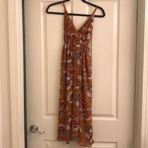 Forever 21 orange floral dress size medium